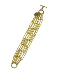 1AR By Unoaerre - Metallic Chased Anchor-link Chain Bracelet - Lyst