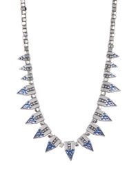 Jessica Simpson   Multicolor Pattern Spike & Bead Necklace   Lyst