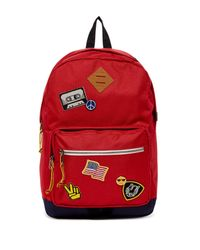 Steve Madden - Red Patch Backpack - Lyst
