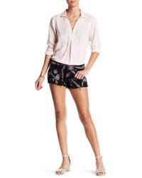 Siwy - Black Camilla Rosette Cutoff Shorts - Lyst