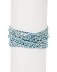 Swarovski - Blue Crystal Wrap Bracelet - Lyst