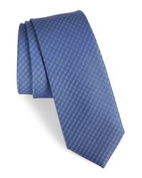 Calibrate | Blue Geometric Silk Tie for Men | Lyst