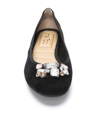 Me Too - Black Sapphire Crystal Embellished Flat - Wide Width Available - Lyst