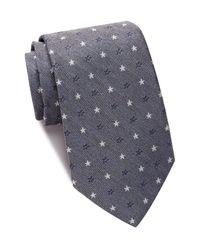 John Varvatos - Blue Star Wide Tie for Men - Lyst