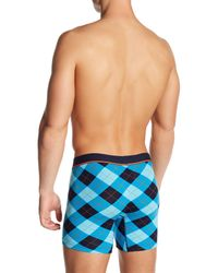 Unsimply Stitched - Blue Plaid Boxer Brief for Men - Lyst