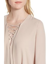 Trouvé - Natural Lace-up Top - Lyst