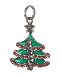 Judith Jack - Metallic Antique Sterling Silver Marcasite Tree Charm - Lyst