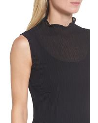 Eileen Fisher - Black Funnel Neck Tank - Lyst