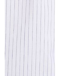 Theory - White Zack S Trim Fit Stripe Sport Shirt for Men - Lyst