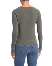 James Perse Green Classic Long Sleeve Raglan Sweatshirt