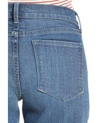 NYDJ - Blue Briella Roll Cuff Stretch Denim Shorts - Lyst