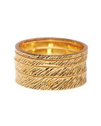 Gorjana | Metallic Knox 4 Stacking Ring Set - Size 8 | Lyst