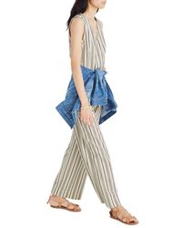 34b51471 Lyst - Madewell Stripe Button Down Jumpsuit