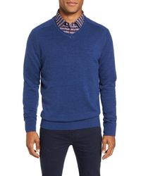 RODD AND GUNN - Blue Burfield Wool Sweater for Men - Lyst