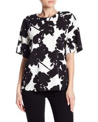 Max Mara - White Dolce Floral Blouse - Lyst