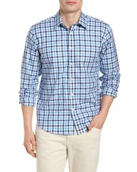 Jeremy Argyle Nyc - Blue Comfort Fit Check Sport Shirt for Men - Lyst