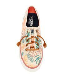 Sperry Top-Sider - Multicolor Seacoast Seaweed Print Sneaker - Lyst