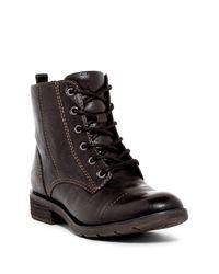 Söfft - Black Belton Cap Toe Boot - Lyst