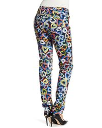 Love Moschino - Blue Pantalone Heart Skinny Jeans - Lyst