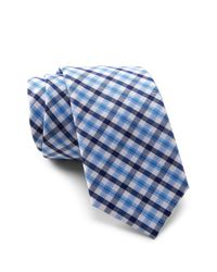 Original Penguin - Blue Malisse Plaid Tie for Men - Lyst