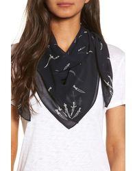 Rag & Bone - Blue Dagger Print Silk Scarf - Lyst