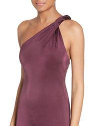 Cushnie et Ochs | Purple Twisted Jersey One-shoulder Dress | Lyst