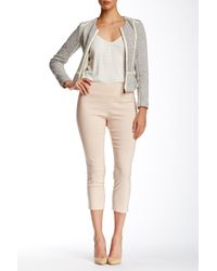 Insight - Pink Solid Techno Pull On Cropped Pant - Lyst