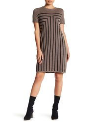 Philosophy Apparel | Brown Geomtetric Cashmere Sweater Dress (petite) | Lyst
