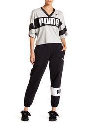 PUMA - Black Urban Sports Sweatpants - Lyst