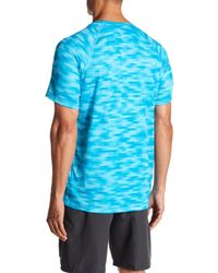 Nike - Blue Flux Camo Mesh Tee for Men - Lyst