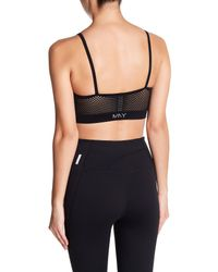 Marc New York - Black Multi Strap Sports Bra - Lyst