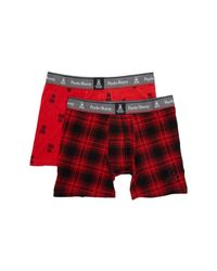 Psycho Bunny - Red Two Piece Boxer Brief Gift Set for Men - Lyst