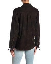 True Religion - Black Coated Military Jacket - Lyst