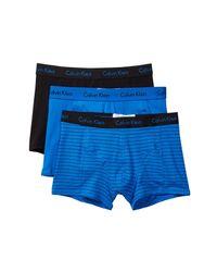 Calvin Klein - Blue Elements Comfort Fit Trunk - Pack Of 3 for Men - Lyst
