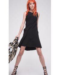 Norma Kamali | Black Sleeveless Swing Dress Bonded | Lyst
