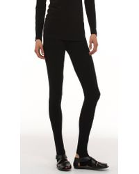 Norma Kamali | Black Legging With Footie | Lyst