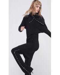 Norma Kamali | Black Side Snap Dress To Knee | Lyst