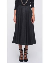 Norma Kamali | Black Long Midcalf Skirt | Lyst