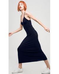 Norma Kamali   Blue Slip Gown   Lyst