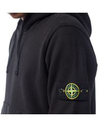 Stone Island - Black Stone Island Hooded Sweatshirts for Men - Lyst