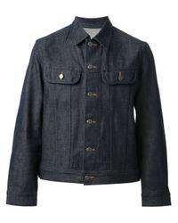 A.P.C. - Blue Vest Jean U.s. for Men - Lyst
