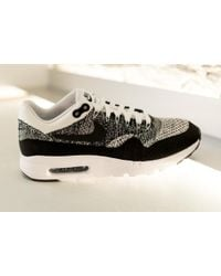 Nike | Black Air Max 1 Ultra Flyknit for Men | Lyst