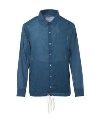 By Walid - Blue Cotton Poplin Joel Shirt for Men - Lyst