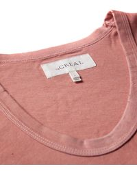 The Great - Pink The U-neck Tee - Lyst