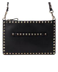 Valentino - 17ss Women's Bag Rockstud Shoulder Black - Lyst