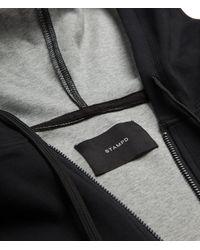 Stampd - Black Elongated Neoprene Zip Up for Men - Lyst