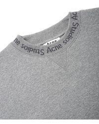 Acne - Gray Flogho Sweatshirt for Men - Lyst