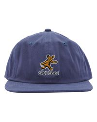 Stussy - Blue Bear Strapback Cap for Men - Lyst