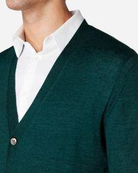 N.Peal Cashmere - Green Fine Gauge Cardigan for Men - Lyst