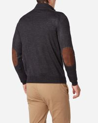 N.Peal Cashmere - Gray The Hyde Fine Gauge Zip Sweater for Men - Lyst